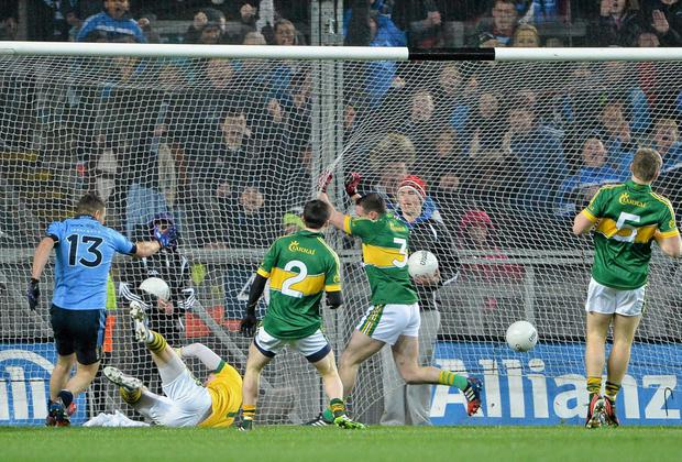 Kevin McManamon scores against Kerry