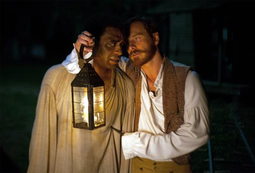 STUCK IN BONDAGE: Chiwetel Ejiofor and Michael Fassbender in '12 Years A Slave'