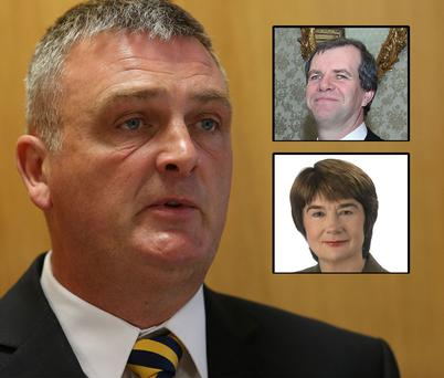PENALTY PROBE: The three members of the Garda Ombudsman Commission are, from clockwise from left, Simon O'Brien, Kieran Fitzgerald and Carmel Foley