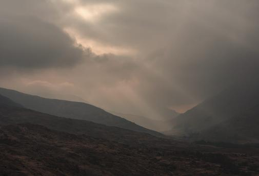 Mountain view near Moll's Gap in the Macgillycuddy's Reeks mountains on the RIng of Kerry