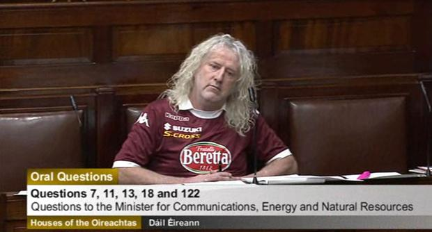 Silly sausage: Mick Wallace can play-act all he wants on his own time, but the TD should have more respect when he's representing his constituency