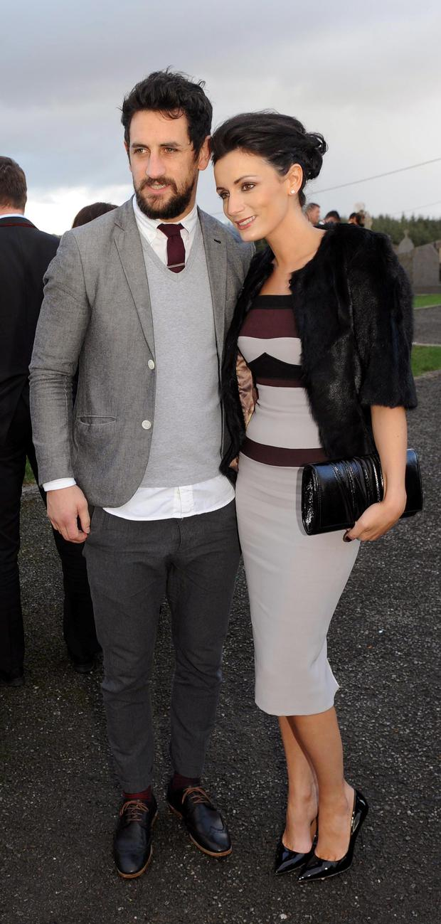 Former Kerry footballer Paul Galvin and girlfriend Louise Duffy Picture: Eamonn Keogh