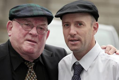 Jackie Healy-Rae and his son Michael Healy-Rae