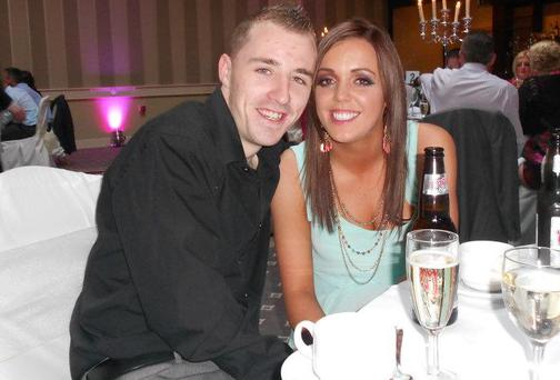 Ross Cummins, who was found dead on Saturday, with his girlfriend Niamh Murphy.