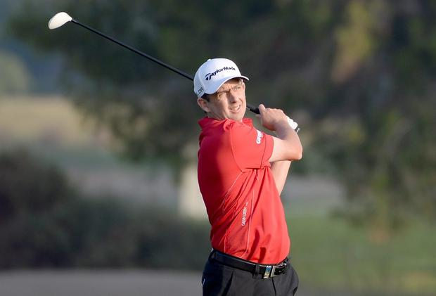 Peter Lawrie during the second round of the Dubai Desert Classic