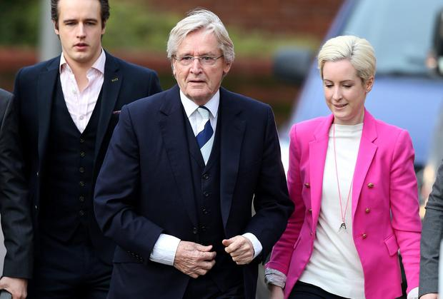 Coronation Street actor Bill Roache arrives at Preston Crown Court with his daughter Verity