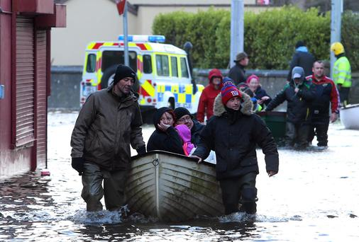 Residents of St Mary's Park in Limerick city deal with flash flooding