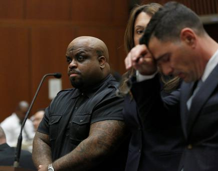 Cee Lo Green during an appearance in court in February (Photo by Mario Anzuoni-Pool/Getty Images)