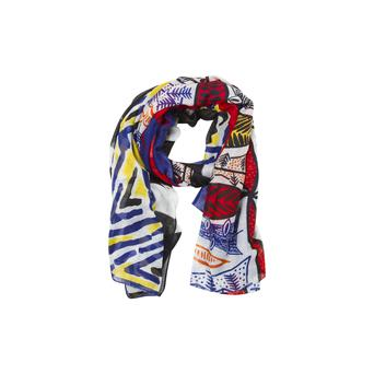 Geometric scarf design, €19.95 at Zara