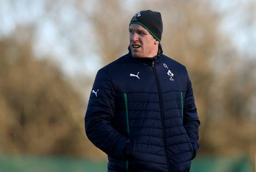 Paul O'Connell sat out training today at Carton House