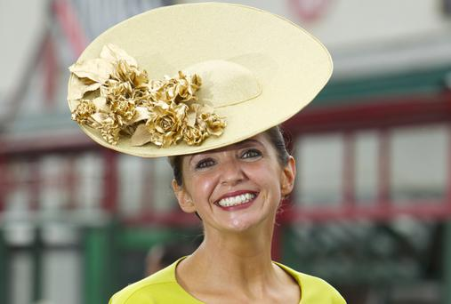 Milliner Carol Kennelly from Tralee, County Kerry