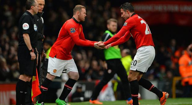Wayne Rooney and Robin van Persie failed to link up significantly during Manchester United's defeat against Stoke City