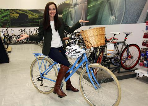 Olympic cycling champion, Victoria Pendleton pictured at Halfords, Blanchardstown last year where she officially launched her Pendleton bike range - the type chosen by Vicki Notaro.