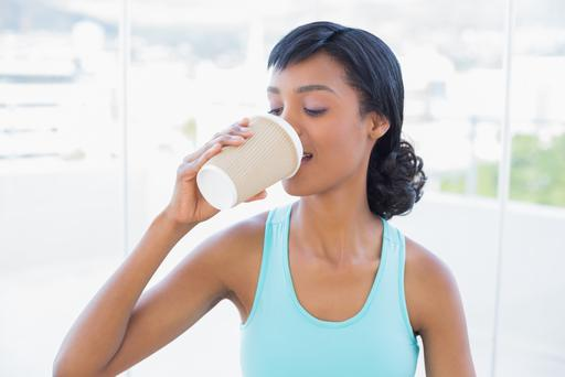 Deirdre Hassett found herself drinking coffee while on her exercise bike. Photo: Getty Images.