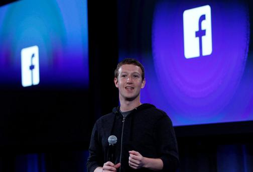 Facebook's co-founder and chief executive Mark Zuckerberg