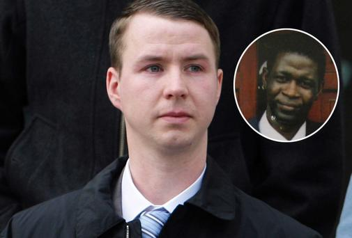 Accused William Keegan and (inset) taxi driver Moses Ayanwole