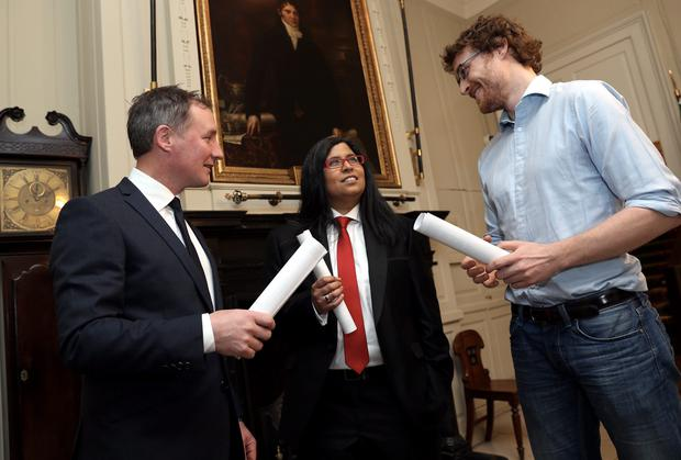 At the Lord Mayor's Awards 2014 at the Mansion House were recipients Jim Gavin with Paddy Cosgrave and Dil Wickremasinghe. Picture Jason Clarke Photography.