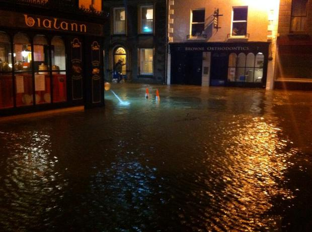 Strand Road Clonakilty submerged in water. Picture: Ger McCarthy