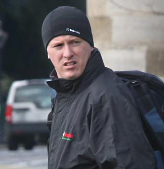 Thomas Dalton, Kings Court, Aughrim St (Failing to Report Address, Sex Offender) pictured leaving after his appearance at The Dublin District Court, at The CCJ yesterday.