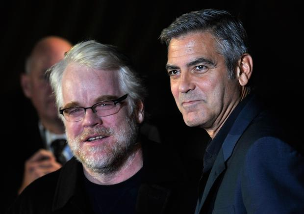 Philip Seymour Hoffman and George Clooney