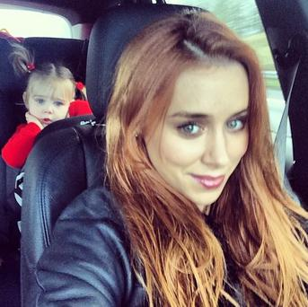 Pop star Una Healy has revealed her daughter loves playing dress-up on the set of the band's music videos. (Instagram/Una Healy)