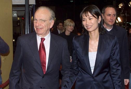 Rupert Murdoch and his former wife Wendi Deng