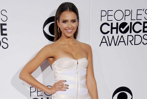 Diet faddist Jessica Alba on the red carpet in Los Angeles. Getty Images