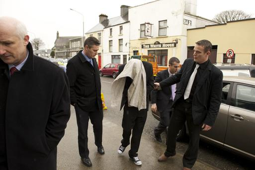 Celyn Eadon, 22, arriving at Swinford District Court, Co Mayo, in March 2011 where he was charged with the murder of his mother Noree Kelly Eadon. Photo : Keith Heneghan / Phocus....NWS