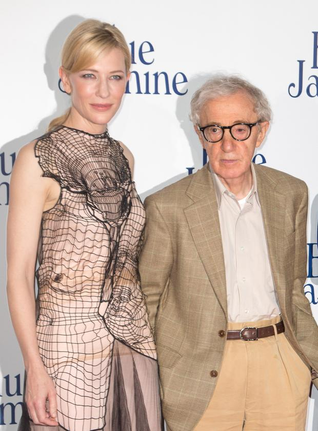 Cate Blanchett and director Woody Allen attend the