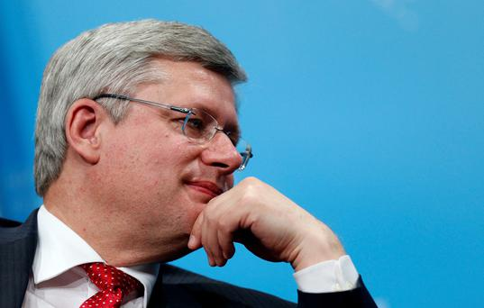 "A spokesperson for Prime Minister Stephen Harper (above) said the prime minister's office is ""shocked and disturbed"" by the charges"