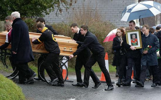 The death of Jonny Byrne, who was buried yesterday, has been blamed on the Neknomination phenomenon