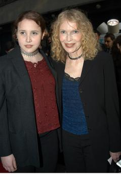 "Mia Farrow and daughter Dylan Farrow arrive at the Shubert Theatre on W. 44th St. for the opening night performance of the musical revival ""Gypsy.""(Photo By: Richard Corkery/NY Daily News via Getty Images)"