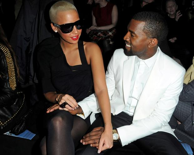 73a394a6c1 PARIS - JANUARY 26  Kanye West and Amber Rose attend the Givenchy Fashion  Show during