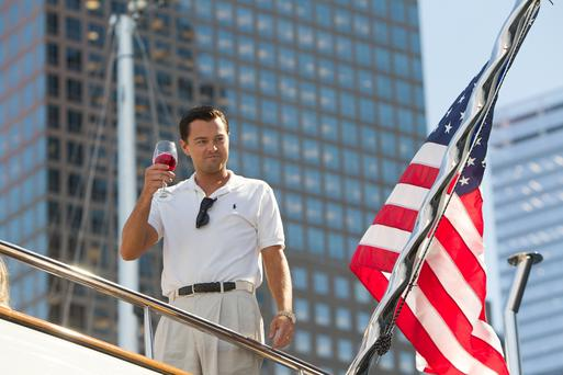 Leonardo DiCaprio stars as 'The Wolf of Wall Street'.