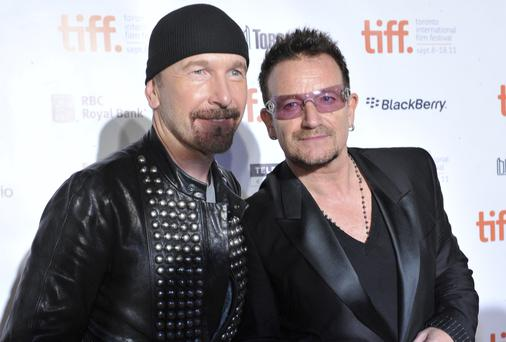 Bono and The Edge: up for an Oscar for 'Ordinary Love'