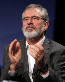 Sinn Fein President Gerry Adams, at the Sinn Fein Ard Fheis in Wexford