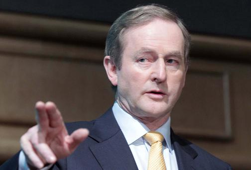 Boss man: Enda Kenny is 'reinforcing herd instinct'. Photo: Collins