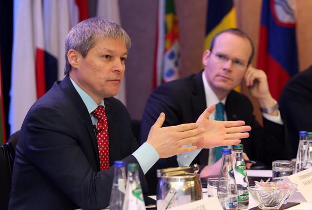 EU Commissioner, Dacian Ciolos and Agriculture minister, Simon Coveney pictured together last year. Photo: Damien Eagers