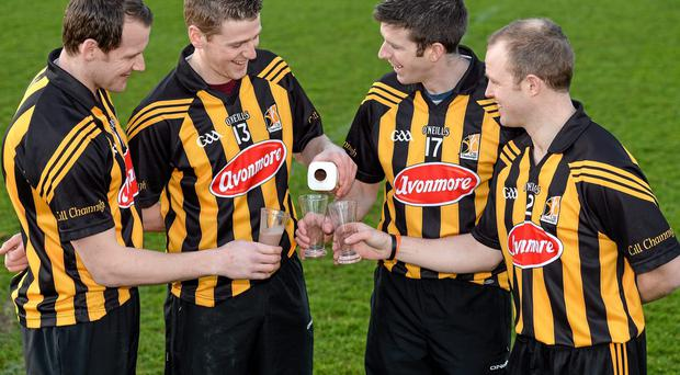 In attendance at the Glanbia 2014 Kilkenny hurlers sponsorship launch are Jackie Tyrell, Lester Ryan, Michael Rice and Tommy Walsh