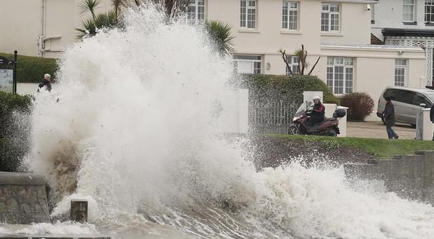 Ireland is expected to be battered by strong winds and rain
