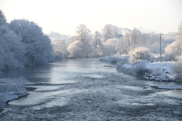 An icy image of the River Blackwater near Kanturk during the big freeze two years ago.