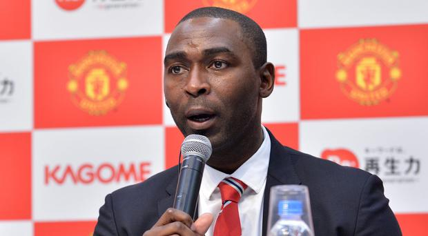 Former Manchester United forward Andy Cole