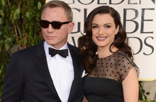 Actors Daniel Craig and Rachel Weisz arrive at last year's Golden Globes