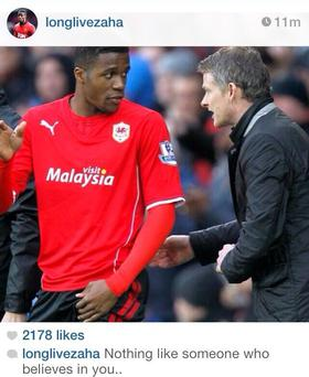 Wilfied Zaha's Instagram photo