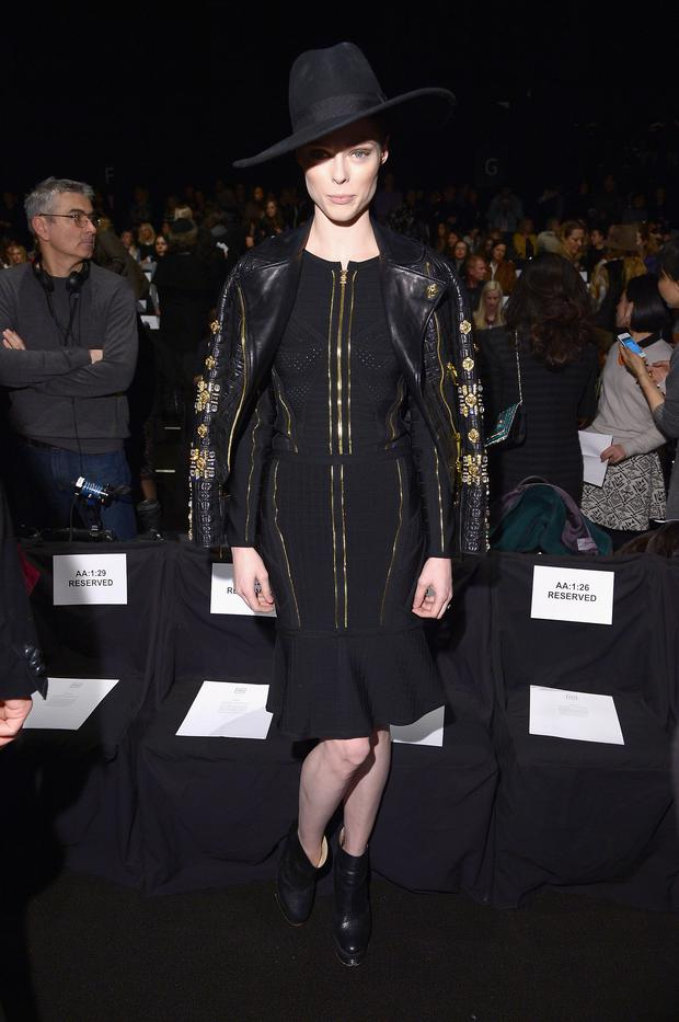 Model Coco Rocha attends the Herve Leger By Max Azria fashion show