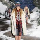 A model walks the runway at Tommy Hilfiger Presents Fall 2014 Women's Collection at Park Avenue Armory