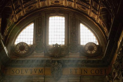 Interior of St. Peters Basilica Vatican City Rome Italy