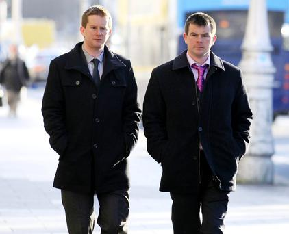 Sons of the late Eileen Brady Aidan Brady, and (right), Martin Brady. Picture: Court Pix