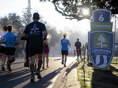 Participants in the Louisiana Marathon.