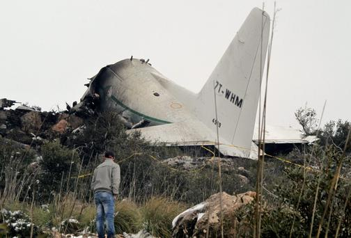 The C-100 plane crashed into a mountain near the Algerian city of Constantine